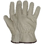Leather Gloves, Unlined  Premium Grain ~ Men's Jumbo